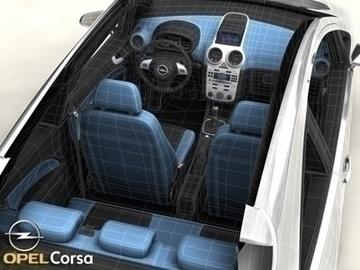 Opel corsa 3d líkan 3ds max obj 81743