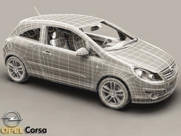Opel corsa 3d líkan 3ds max obj 81744