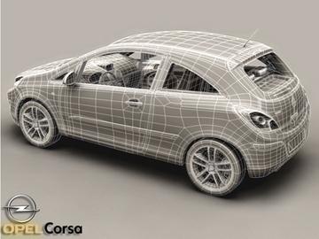 Opel corsa 3d líkan 3ds max obj 81745
