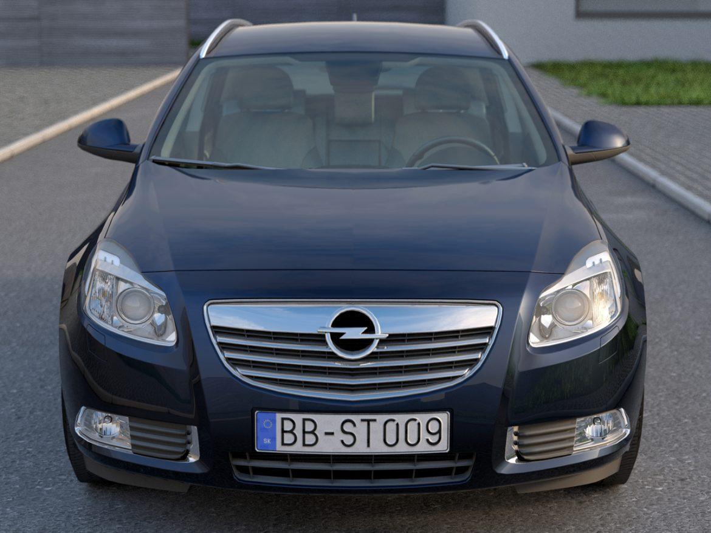 Opel insignia íþrótta ferðamaður (2009) 3d líkan 3ds max fbx c4d obj 103618