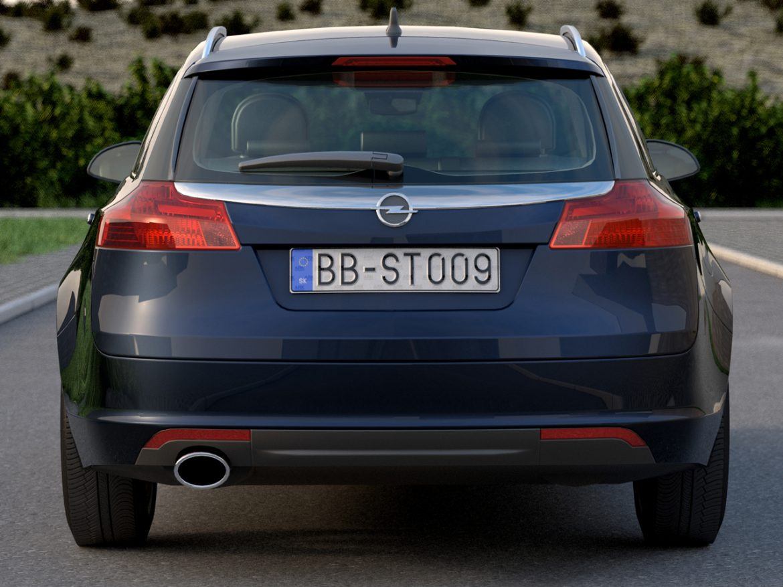 Opel insignia íþrótta ferðamaður (2009) 3d líkan 3ds max fbx c4d obj 103620