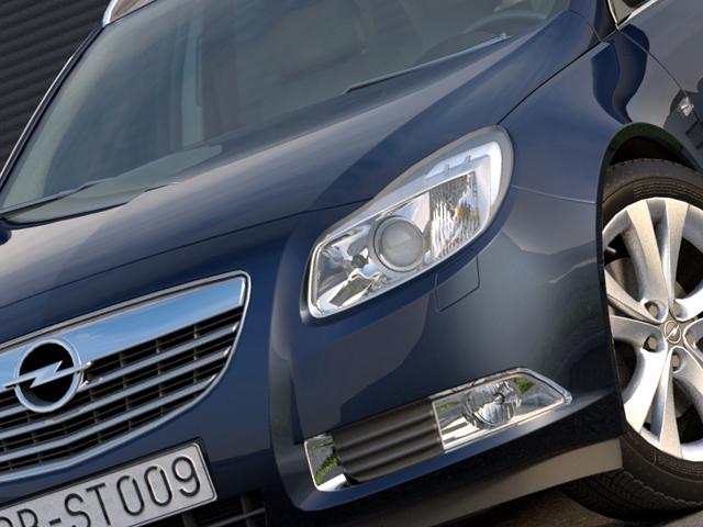 Opel insignia íþrótta ferðamaður (2009) 3d líkan 3ds max fbx c4d obj 103623