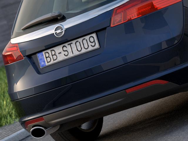 Opel insignia íþrótta ferðamaður (2009) 3d líkan 3ds max fbx c4d obj 103624
