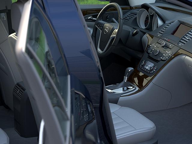 Opel insignia íþrótta ferðamaður (2009) 3d líkan 3ds max fbx c4d obj 103625