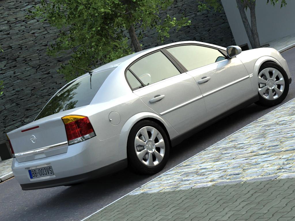 opel vectra (2003) 3d model 3ds max fbx c4d obj 84556