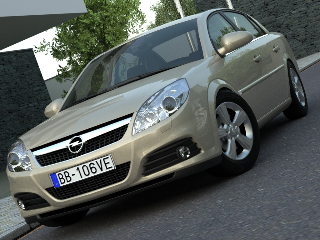 opel vectra (2006) 3d model 3ds max fbx c4d obj 84565
