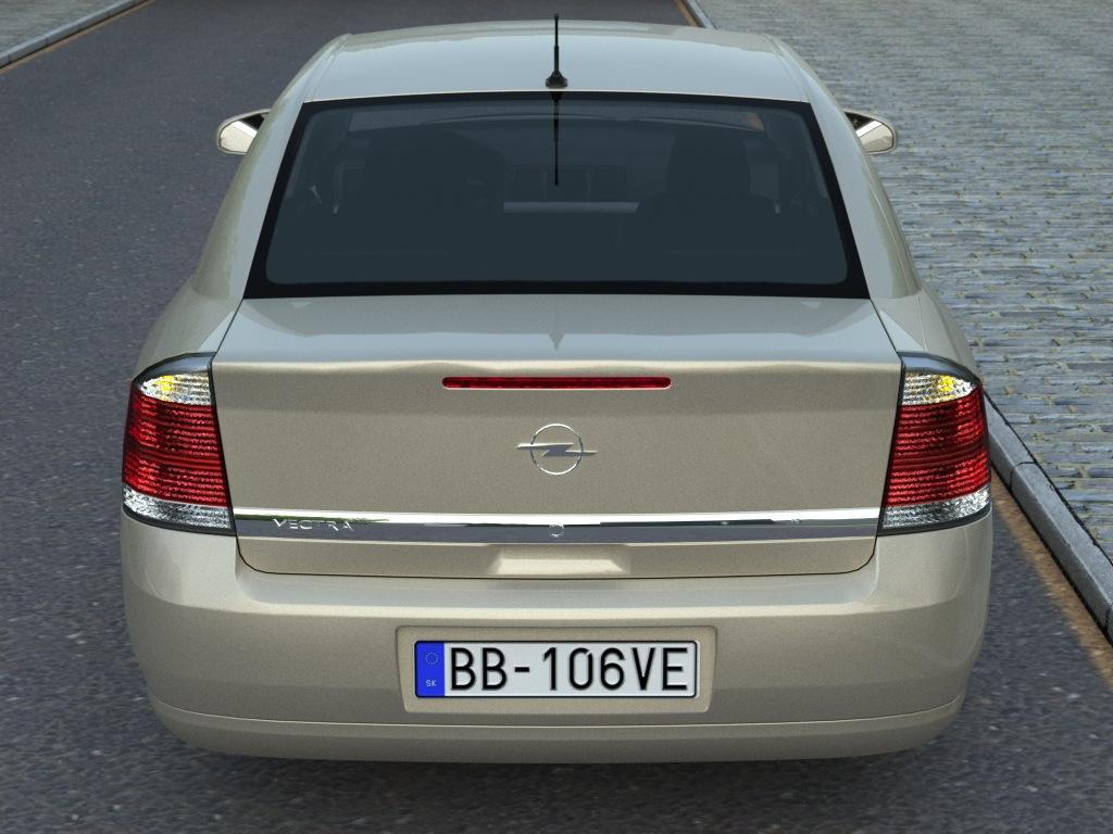 opel vectra (2006) 3d model 3ds max fbx c4d obj 84572