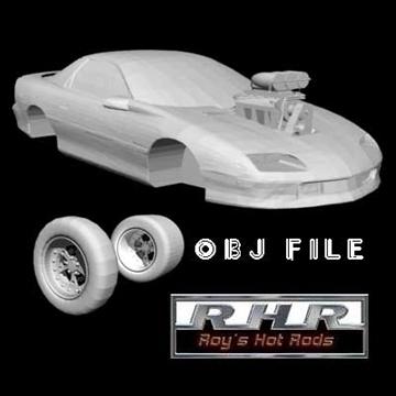 pro street chevy camaro 3d model lwo obj 81831