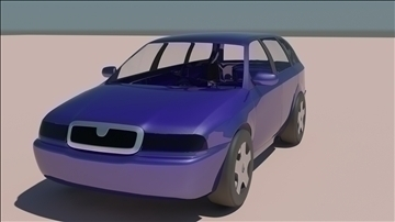 skoda octavia 3d model 3ds max obj 106162
