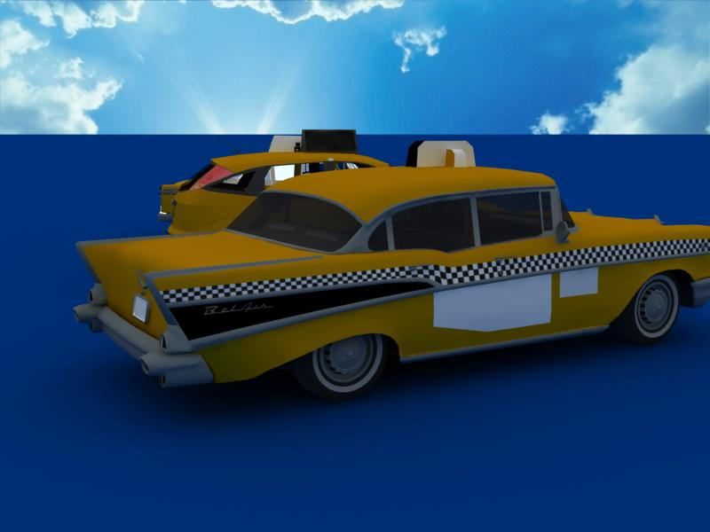 taxi cars collection 3d model max dxf fbx obj 120210