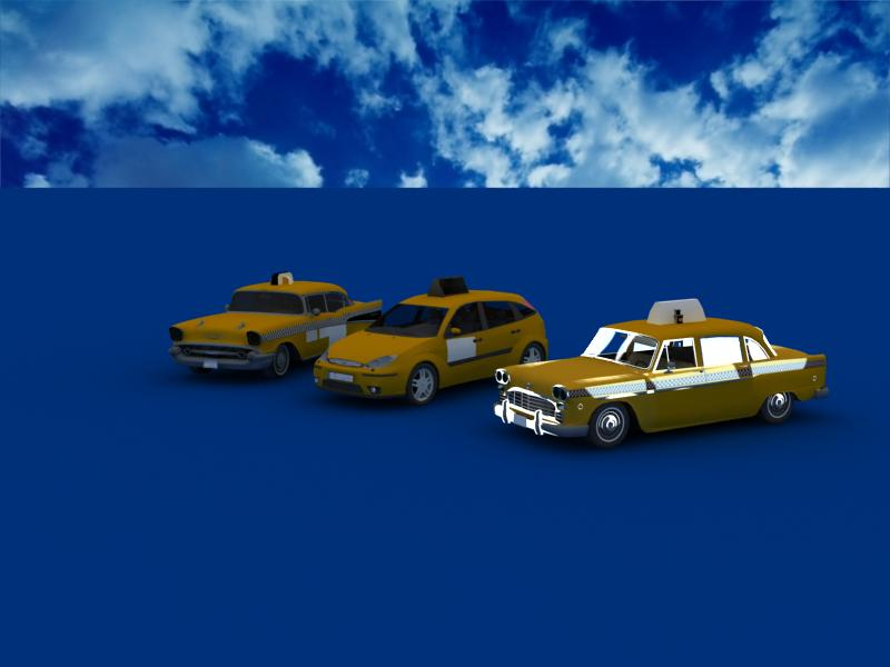 taxi cars collection 3d model max dxf fbx obj 120212
