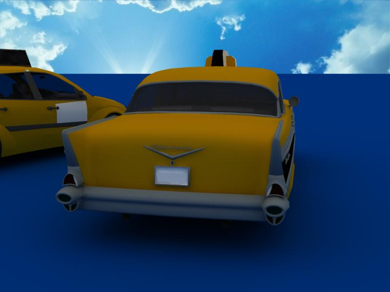 taxi cars collection 3d model max dxf fbx obj 120213