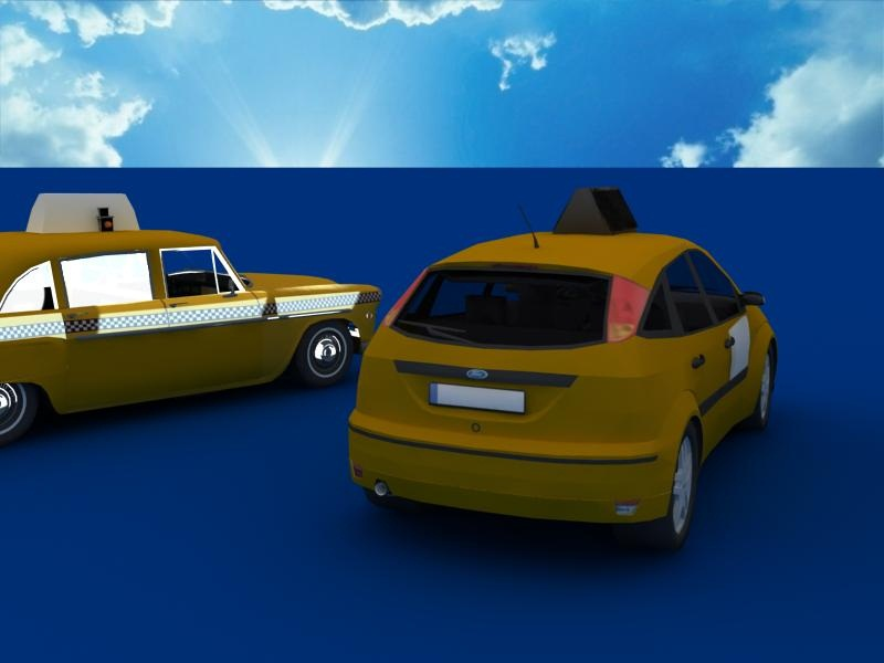 taxi cars collection 3d model max dxf fbx obj 120214
