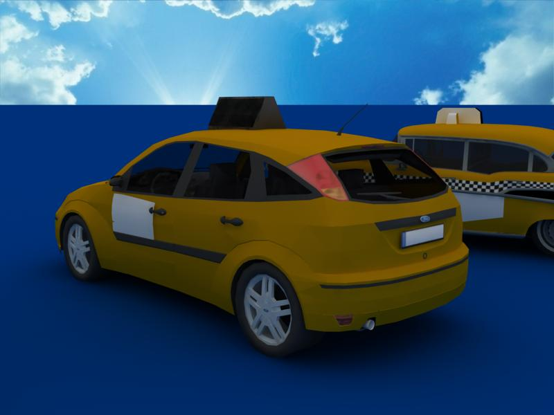 taxi cars collection 3d model max dxf fbx obj 120215