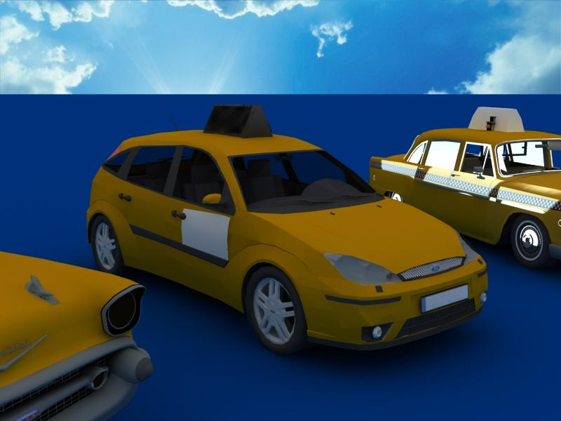 taxi cars collection 3d model max dxf fbx obj 120216