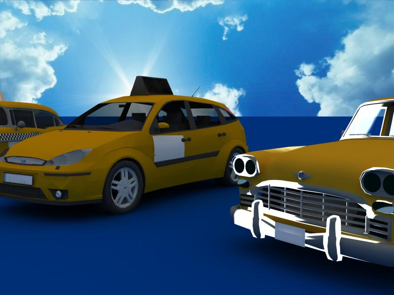 taxi cars collection 3d model max dxf fbx obj 120217