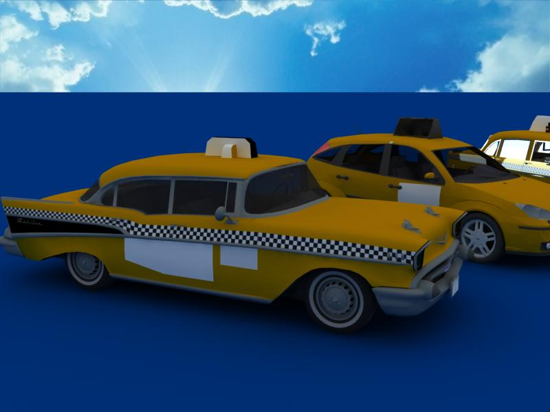 taxi cars collection 3d model max dxf fbx obj 120218