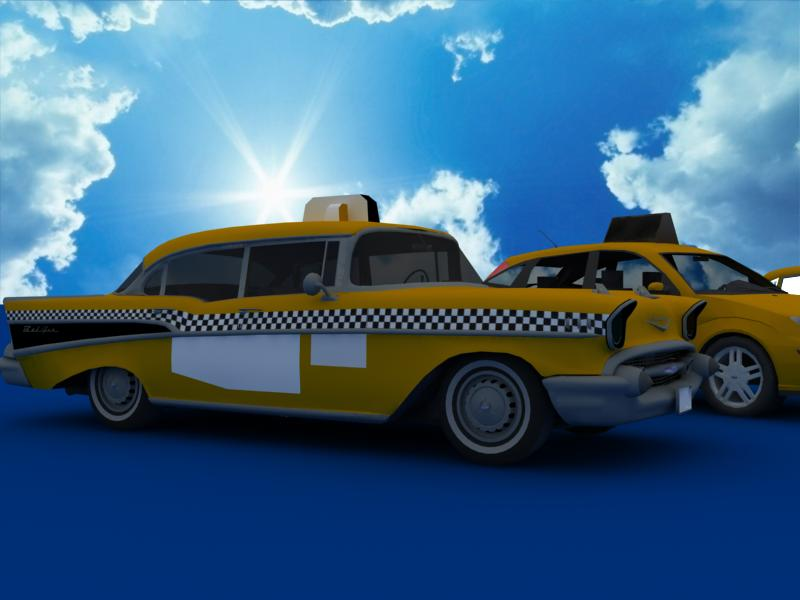 taxi cars collection 3d model max dxf fbx obj 120219