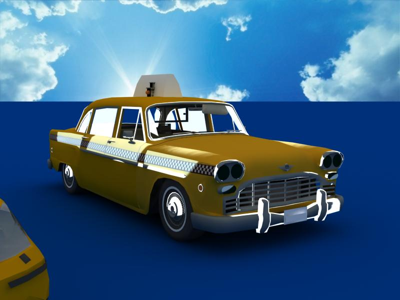taxi cars collection 3d model max dxf fbx obj 120220