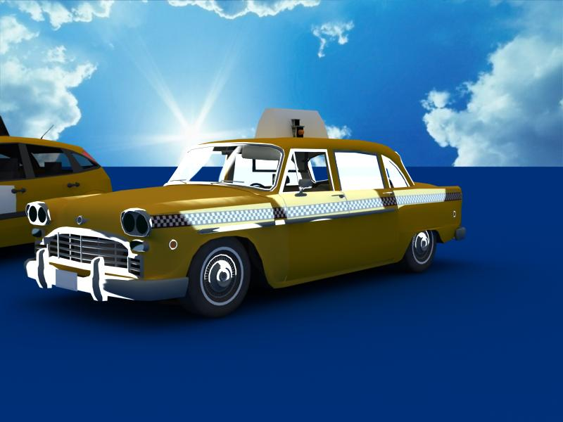 taxi cars collection 3d model max dxf fbx obj 120221