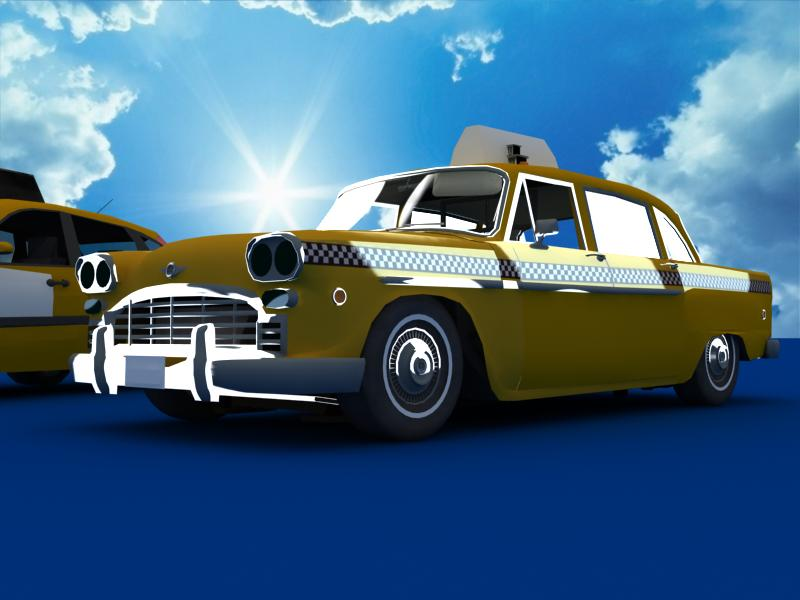taxi cars collection 3d model max dxf fbx obj 120222