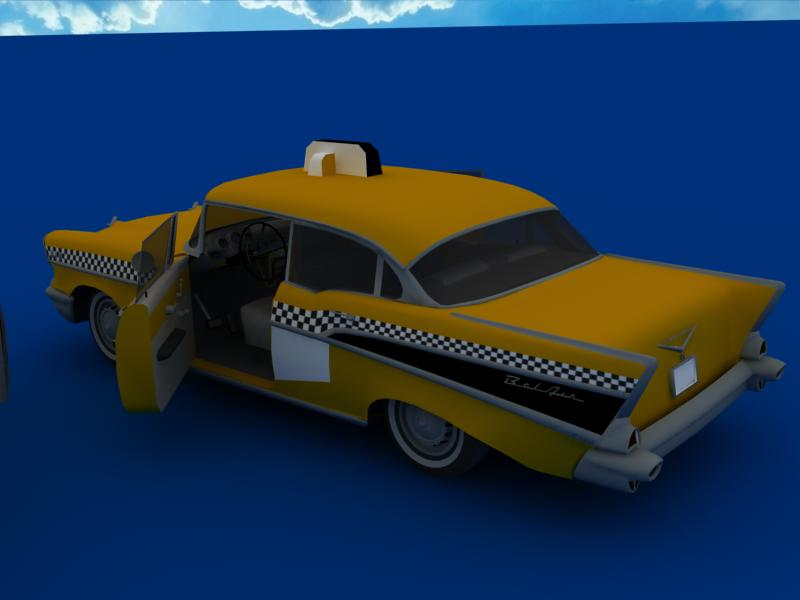 taxi cars collection 3d model max dxf fbx obj 120223