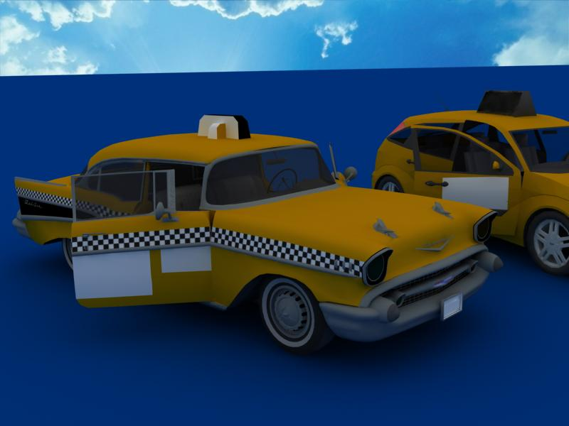 taxi cars collection 3d model max dxf fbx obj 120224