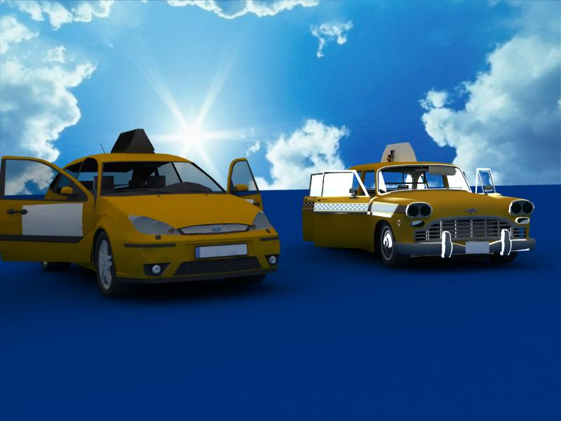 taxi cars collection 3d model max dxf fbx obj 120225