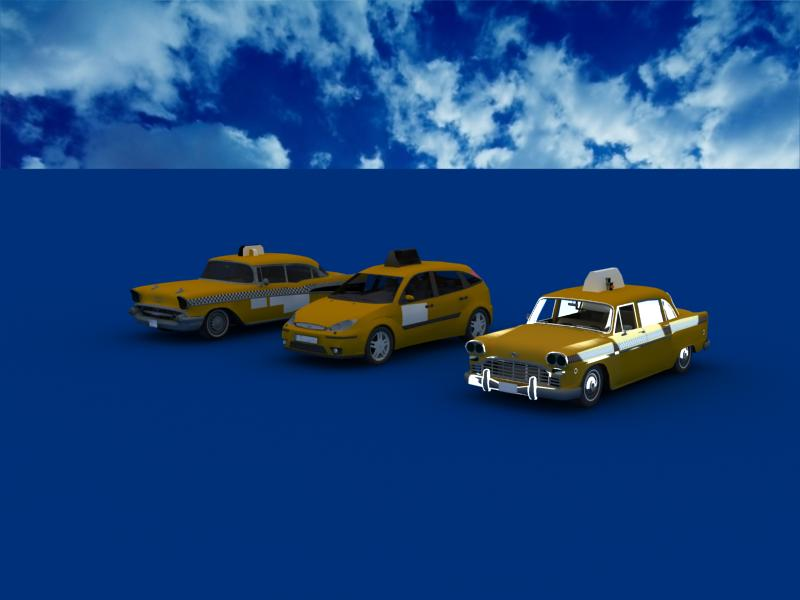 taxi cars collection 3d model max dxf fbx obj 120226