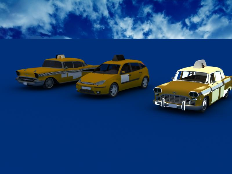 taxi cars collection 3d model max dxf fbx obj 120227
