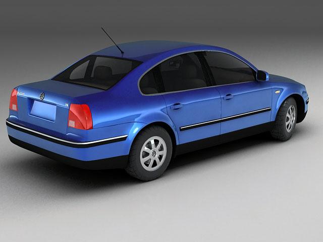 volkswagen passat 3d model 3ds max 124842