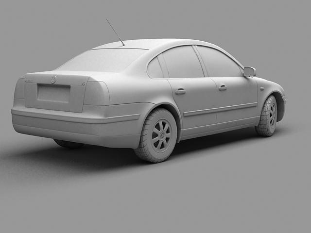 volkswagen passat 3d model 3ds max 124843