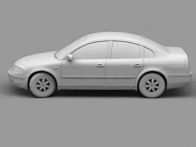 volkswagen passat 3d model 3ds max 124844