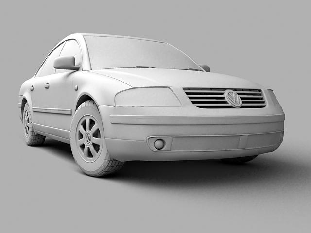 volkswagen passat 3d model 3ds max 124845