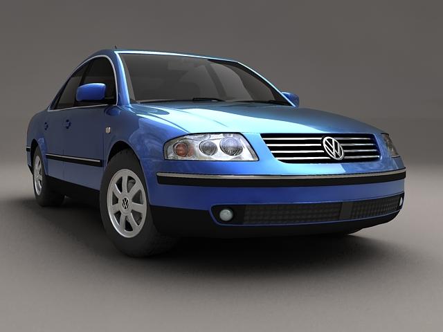 volkswagen passat 3d model 3ds max 124846
