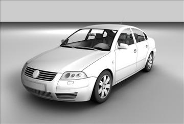 volkswagen passat 3d model 3ds c4d texture 85091