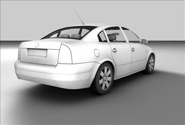 volkswagen passat 3d model 3ds c4d texture 85092