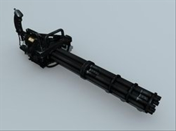 m134 gatling minigun model model 3d