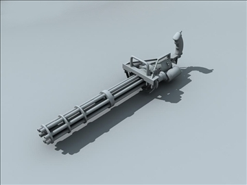 m134 gatling minigun 3d model ma mb obj 109014