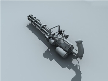 m134 gatling minigun 3d model ma mb obj 109015