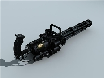 m134 gatling minigun 3d model ma mb obj 109016