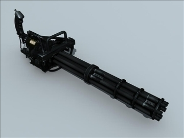 m134 gatling minigun 3d model ma mb obj 109017