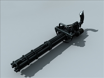 m134 gatling minigun 3d model ma mb obj 109018