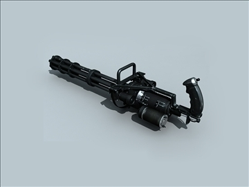 m134 gatling minigun 3d model ma mb obj 109019