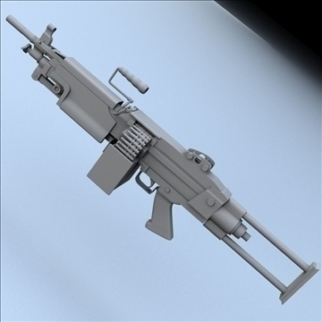 m249 squad automatic weapon (m249 saw) 3d model 3ds max lwo hrc xsi obj 100513