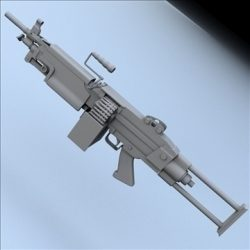 M249 Squad Automatic Weapon (M249 SAW) ( 68.69KB jpg by SlomoStudios )