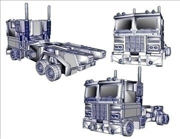 20th anniversary optimus prime replica 3d model ma mb 102234