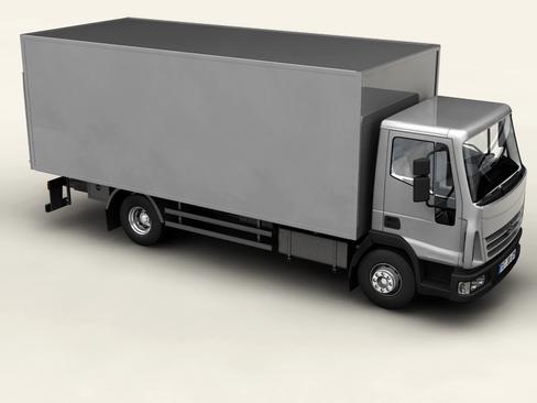 generic truck 3d model flatpyramid