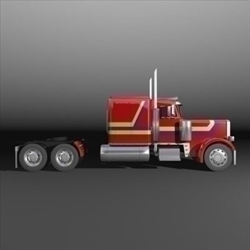 semi rig 3d model 3ds max fbx c4d lwo obj 109147