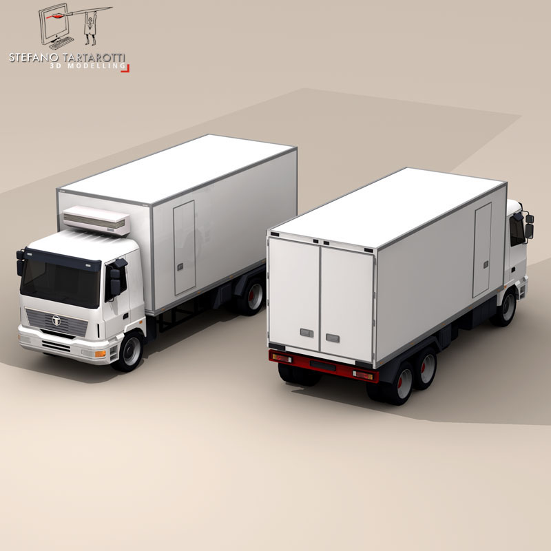 truck fridge 3d model 3ds dxf fbx c4d dae obj 85274